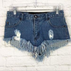 One Teaspoon Bonitas HiRise Distressed Shorts 26